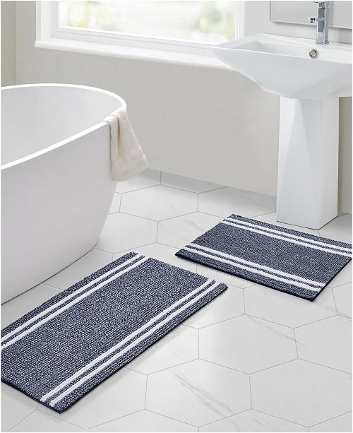 VCNY Home Stripe Noodle Bath Rug Collection