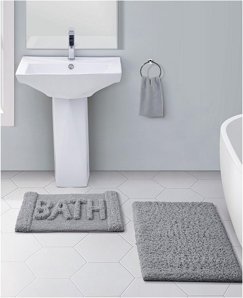 Vcny Home Heathered 2 Pc Bath Rug Set