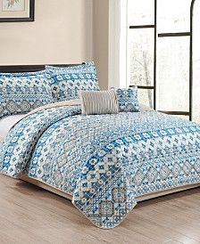 Tangier 5-Piece Quilt Set - Queen