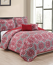 Heather 5-Piece Quilt Set - Queen