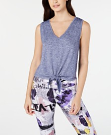 Calvin Klein Performance V-Neck Tie-Front Tank Top