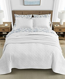 Tommy Bahama Solid White Quilt Set, Twin