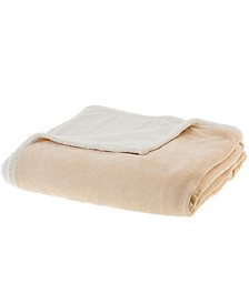 "Microsherpa Microplush 86"" x 108"" Reversible Throw Blanket"