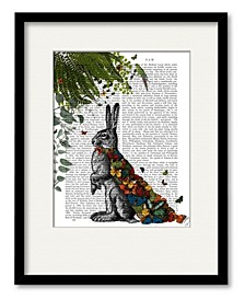 Hare with Butterfly Cloak Framed and Matted Art Collection