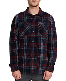 Volcom Men's Bower Plaid Polar Fleece Shirt Jacket