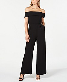 Off-The-Shoulder Jumpsuit, Regular & Petite Sizes