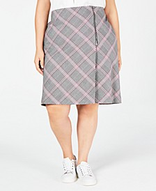 Trendy Plus Size Plaid Skirt, Created for Macy's