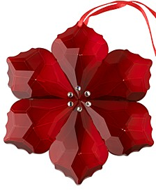 Crystal Gems Poinsettia Ornament