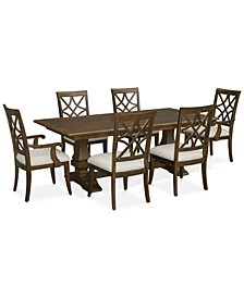Trisha Dining 7-Pc. Set (Expandable Table, 4 Side Chairs & 2 Arm Chairs)