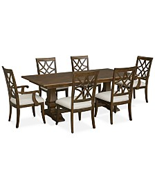 Trisha Dining Furniture, 7-Pc. Set (Expandable Table, 4 Side Chairs & 2 Arm Chairs)
