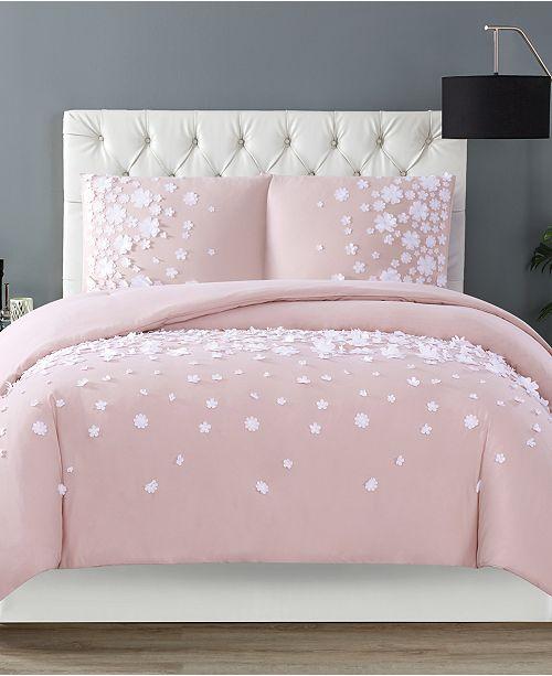 Christian Siriano Confetti Flowers 2 Piece Blush Twin XL Comforter Set