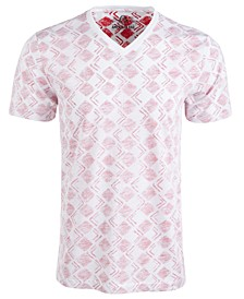 Men's V-Neck Geometric T-Shirt, Created for Macy's