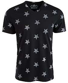American Rag Men's Textured Stars Graphic T-Shirt