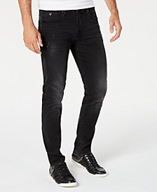 Men's Slim-Fit Black Jeans