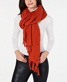 Solid Travel Fringed Scarf