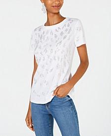 INC Animal Stud T-Shirt, Created for Macy's