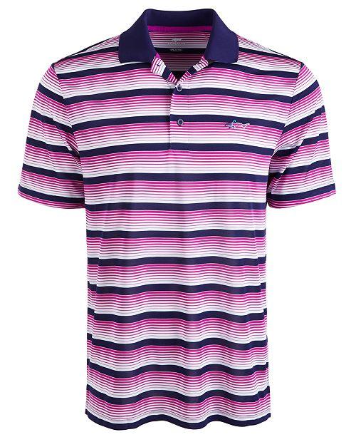Greg Norman Men's Roadmap Stripe Polo Shirt
