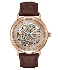 Men's Brown Strap Watch 43.5MM