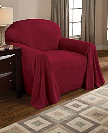 Coral Fleece Throw Chair Cover