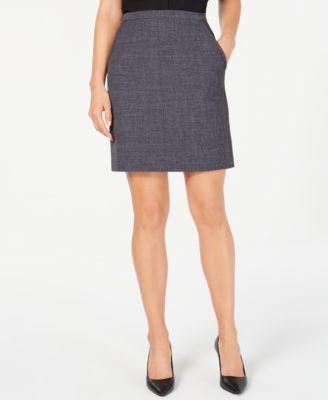 Melange Tailored Skirt