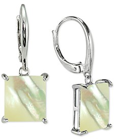 Giani Bernini Mother-of-Pearl Square Drop Earrings in Sterling Silver, Created for Macy's