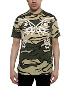 Sean John Men's Tiger Camouflage Graphic T-Shirt