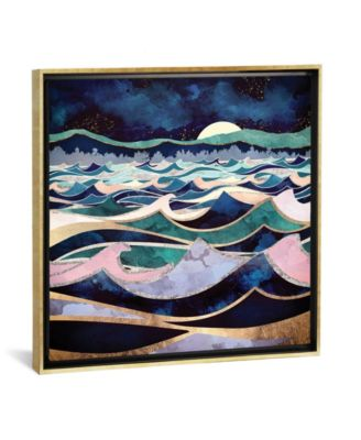 """Moonlit Ocean by Spacefrog Designs Gallery-Wrapped Canvas Print - 26"""" x 26"""" x 0.75"""""""