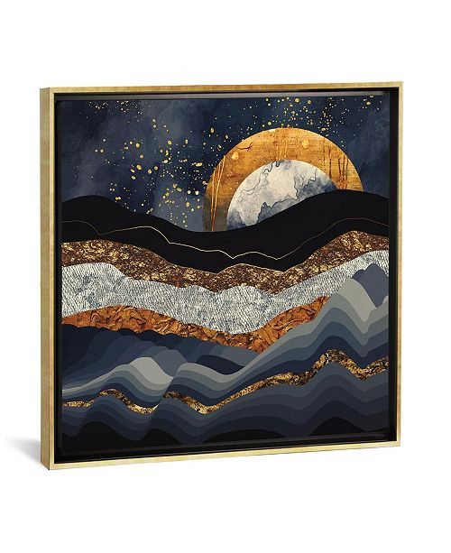 """iCanvas Metallic Mountains by Spacefrog Designs Gallery-Wrapped Canvas Print - 26"""" x 26"""" x 0.75"""""""