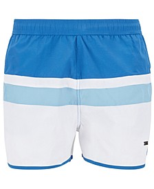 BOSS Men's Moonfish Vintage-Inspired Swim Shorts