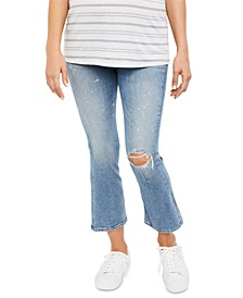 Maternity Flared Cropped Jeans