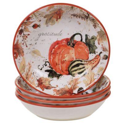 Harvest Splash Soup/Pasta Bowl, Set of 4