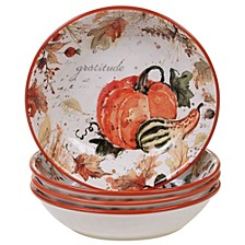 Harvest Splash Soup/Pasta Bowl, Set of 4