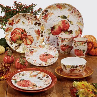 Harvest Splash Rectangular Platter w/Handles