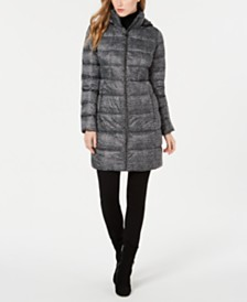 Michael Michael Kors Petite Hooded Puffer Coat, Created for Macy's