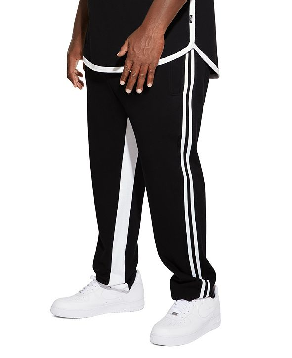 Mvp Collections By Mo Vaughn Productions MVP Collections Men's Big and Tall Stripe Track Pant