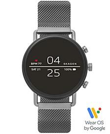 Falster 2 Smoke Stainless Steel Mesh Bracelet Touchscreen Smart Watch 40mm, Powered by Wear OS by Google™