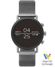 Skagen Falster 2 Smoke Stainless Steel Mesh Bracelet Touchscreen Smart Watch 40mm, Powered by Wear OS by Google™