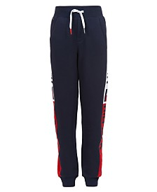 Tommy Hilfiger Little Boys Chaka Logo-Print Side Panel Fleece Sweatpants