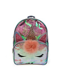 Clear Unicorn Large Backpack
