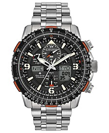Eco-Drive Men's Analog-Digital Promaster Skyhawk A-T Stainless Steel Bracelet Watch 45mm