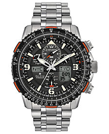 Citizen Eco-Drive Men's Analog-Digital Promaster Skyhawk A-T Stainless Steel Bracelet Watch 45mm