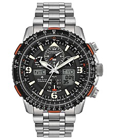 Citizen Eco-Drive Men's Analog-Digital Promaster Skyhawk A-T Stainless Steel Bracelet Watch 45mm