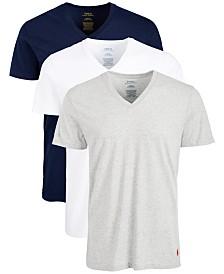 Polo Ralph Lauren Men's 3-Pk. Cotton V-Neck Undershirts