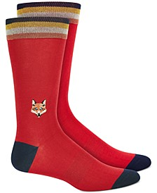 Men's Embroidered Fox Socks, Created for Macy's