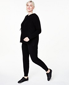 Plus Size Cashmere Hoodie & Jogger Pants, Created for Macy's