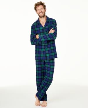 Men's Matching Black Watch Plaid Family Pajama Set