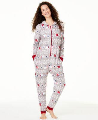 Matching Women's Hooded Polar Bear Pajamas, Created For Macy's