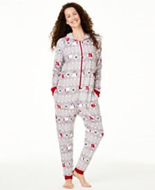 Matching Family Pajamas Women's Hooded Polar Bear Pajamas, Created For Macy's