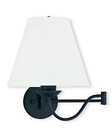 Livex Ridgedale 1-Light Swing Arm Wall Lamp
