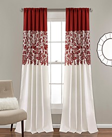 "Estate Garden Lace Print 52"" x 84"" Curtain Set"